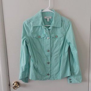 EUC Croft & Barrow Mint Stretch Jacket